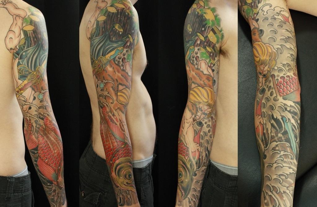 Culinary tattoo sleeve